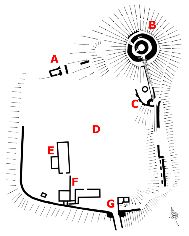 Plan of Launceston Castle