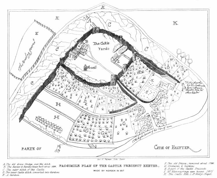 John_Norden's_1617_plan_of_Rougemont_Castle