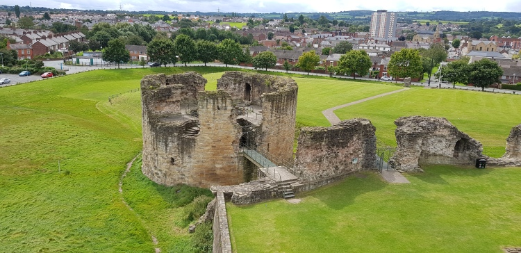 Flint Castle - great tower view from north-east tower 2